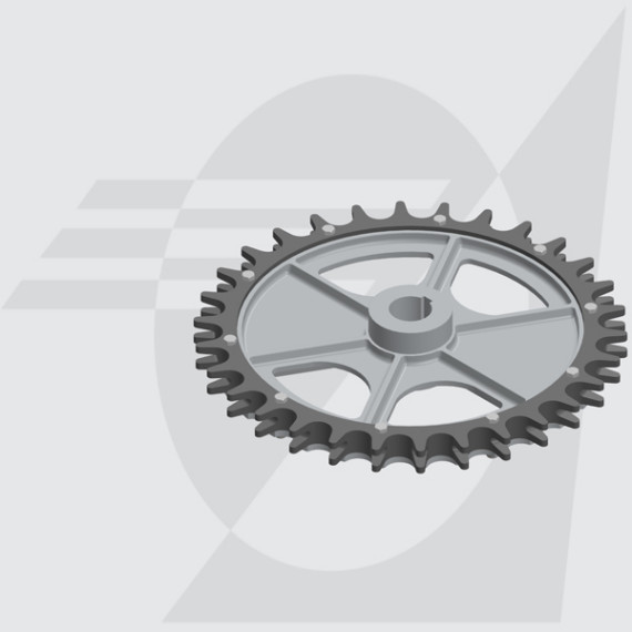 Roda Motriz Ø485mm Furo Ø50mm Castanha Dupla Dentada